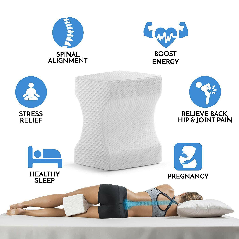 Contour Memory Foam Leg Pillow Bed Back Hip Leg Knee Support Wedge Sciatica Ebay