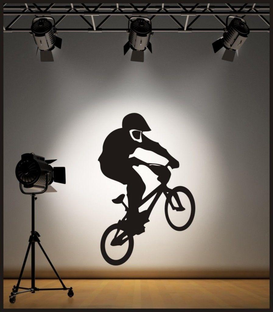WALL ART BMX BIKE WALL STICKER / DECAL