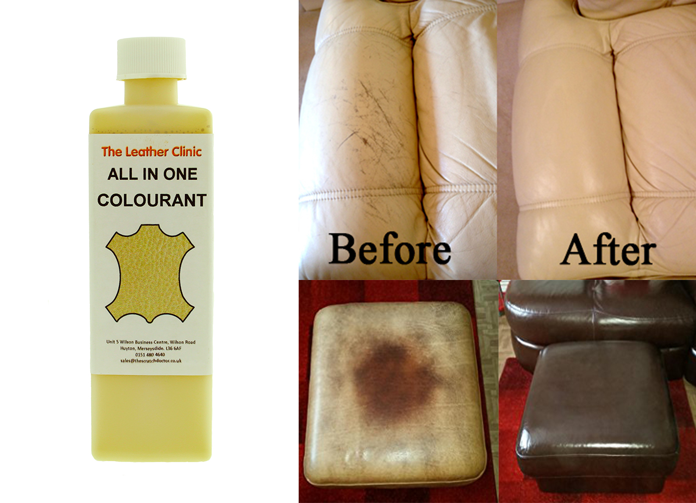 leather sofa cleaning kit full sleeper mattress pad dk brown all in one dye paint repair for restoring