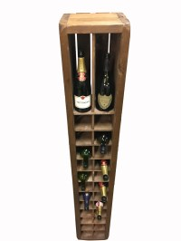 (NEW) Celtic Manor Wine Rack,Wood Champagne Holder,Tall ...