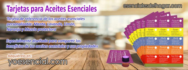 Aceites esenciales tarjeta de propiedades