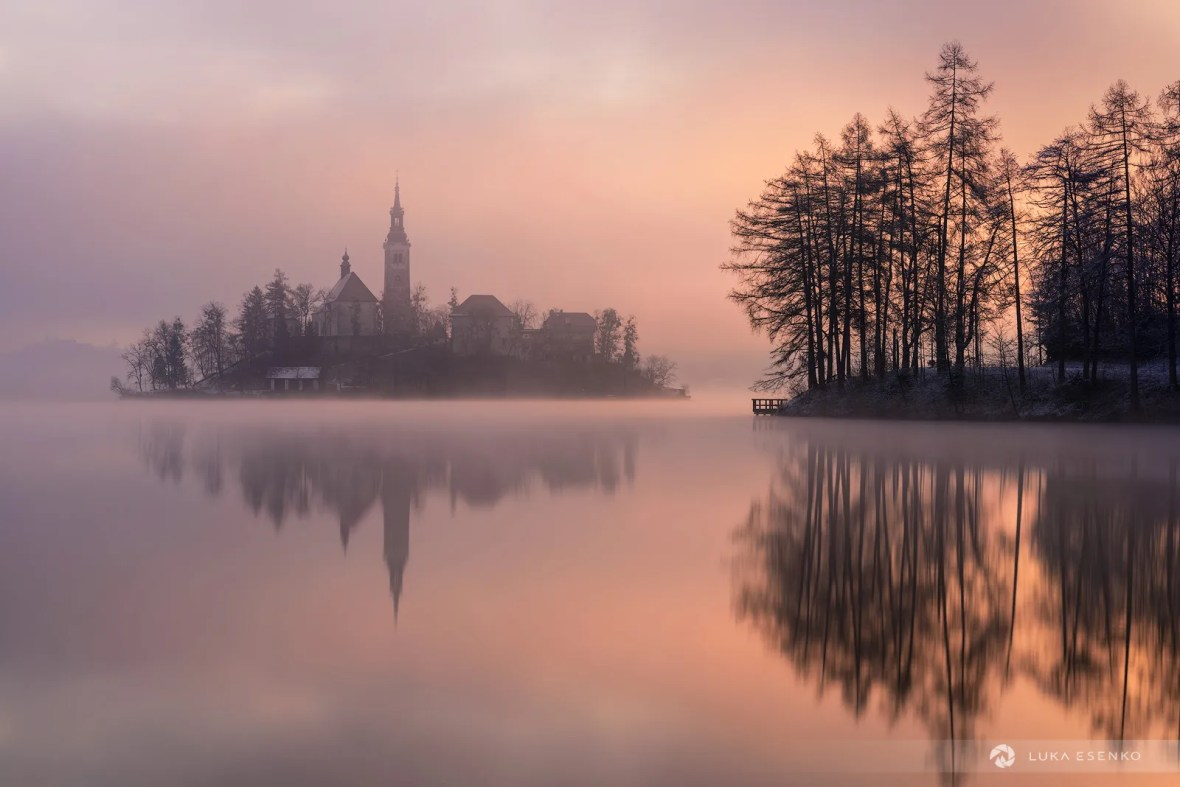 Photographing Lake Bled