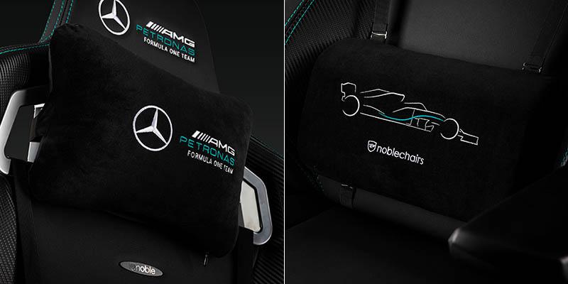 noblechairs 皇家EPIC電競賽車椅-2021賓士AMG Petronas 車隊聯名款