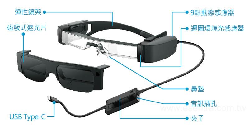 EPSON MOVERIO BT-40S 次視代 智慧眼鏡|輕巧鏡架設計|先創國際