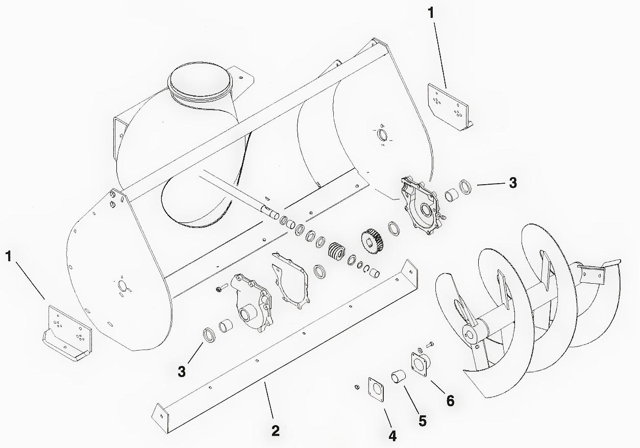 hight resolution of toro dingo snowblower attachment parts diagram