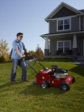Toro Walk Behind and Ride On Hydraulic Aerator Exmark Lawn
