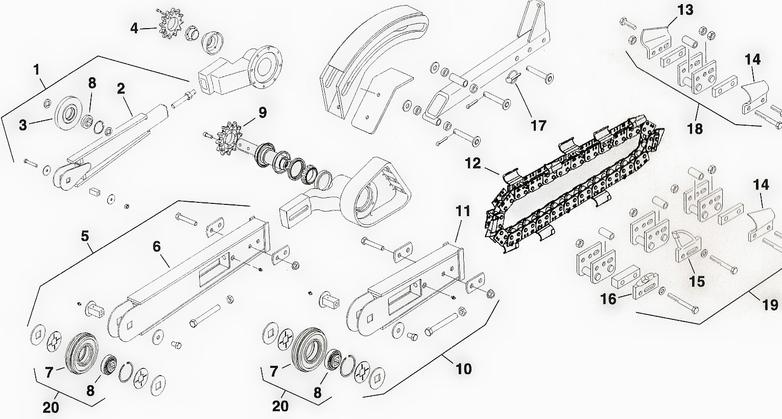 Toro Dingo Trencher Attachment Parts Chain Roller Nose