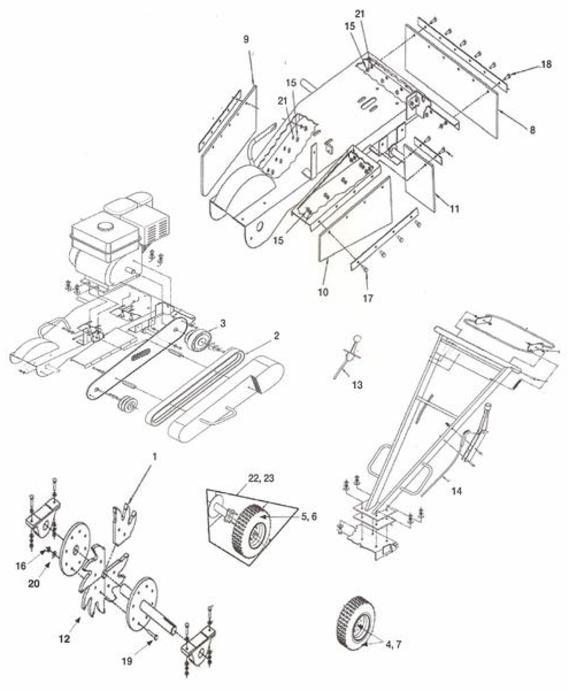 US Praxis and Toro Handle Bar Stumpgrinder Parts blade 120