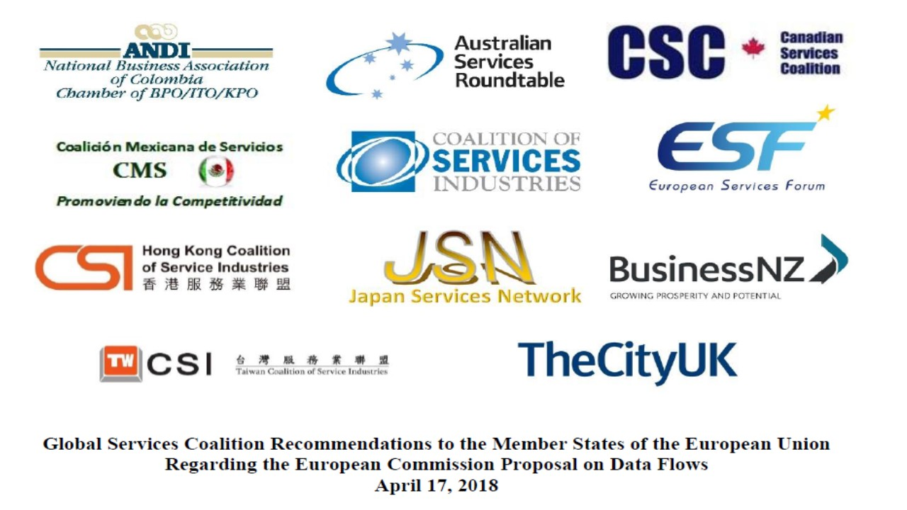 Global Services Coalition Recommendations on Data Flows