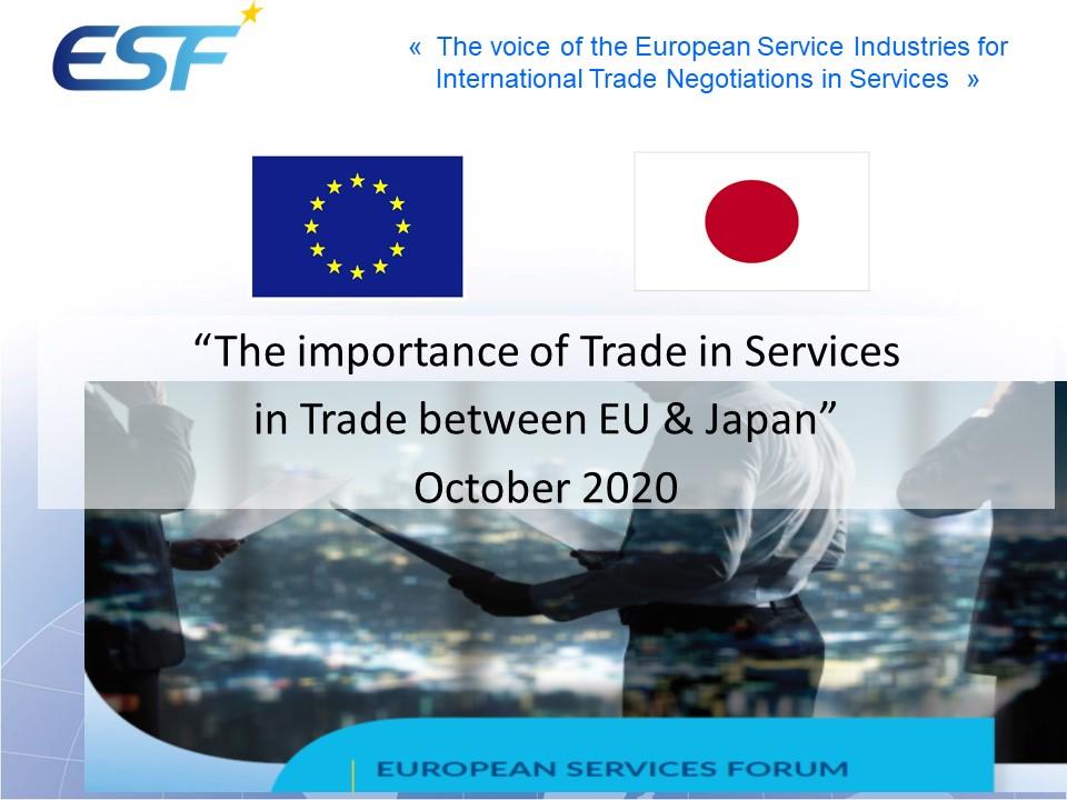 Importance of trade in servics between EU & Japan - Statitistics