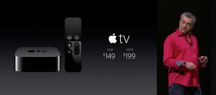 Apple tV precios keynote