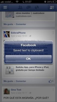 Copy Text Facebook 2