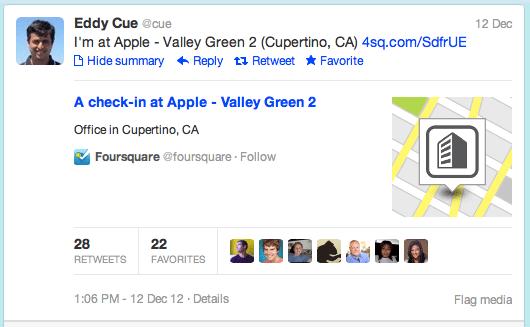 Eddy Cue Foursquare