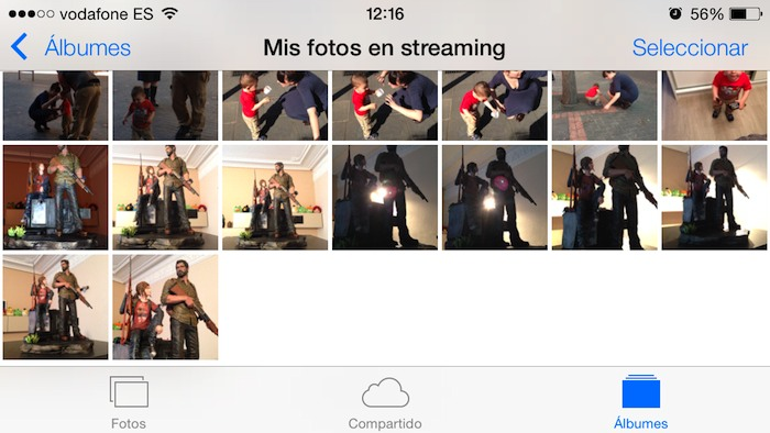 Fotos en streaming iOS 7