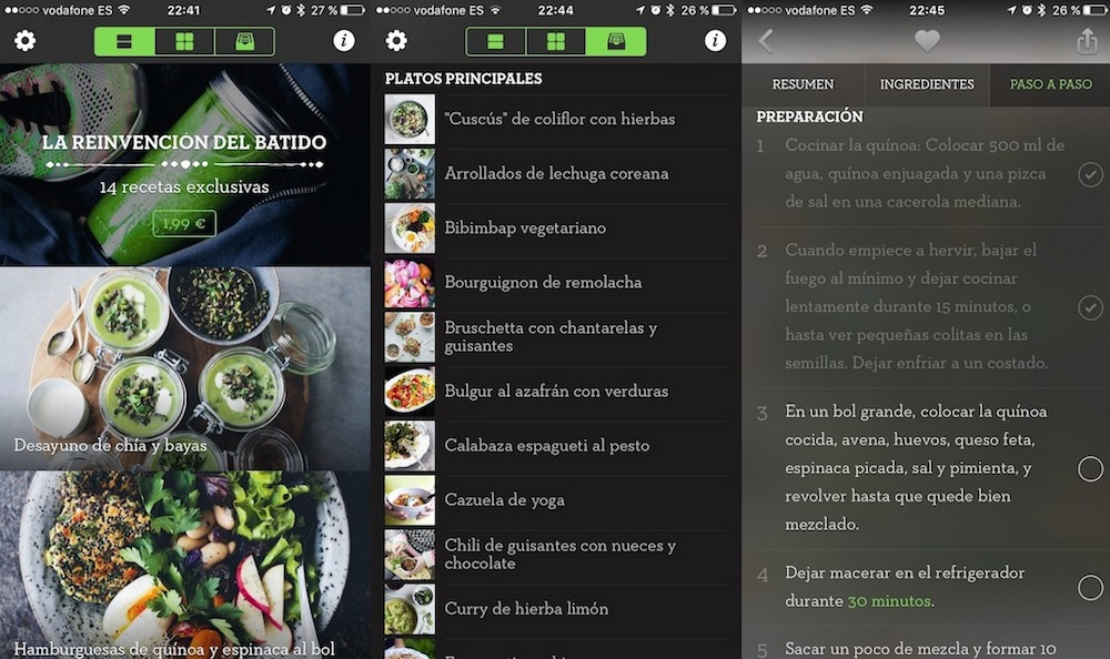recetas vegetarianas Green Kitchen iOs app