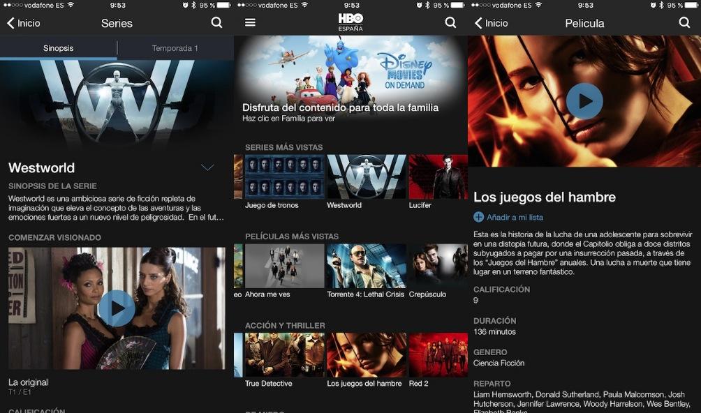 HBO España App Store