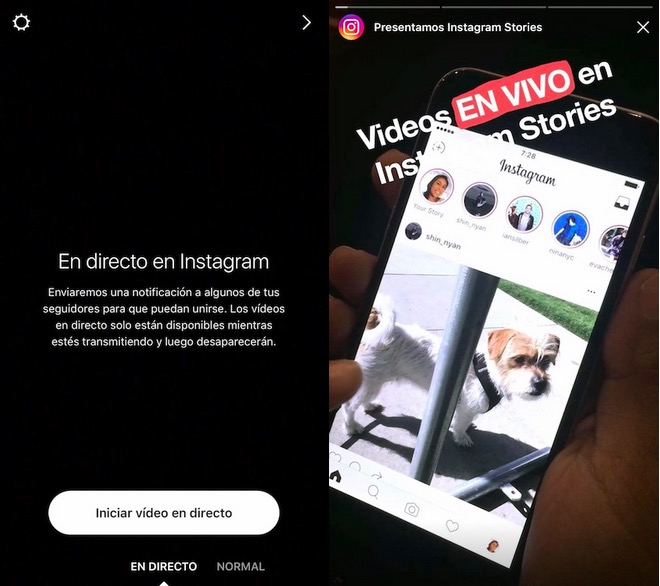 Instagram Stories en vivo - Historias en directo