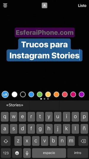 Estilos de texto Instagram Stories
