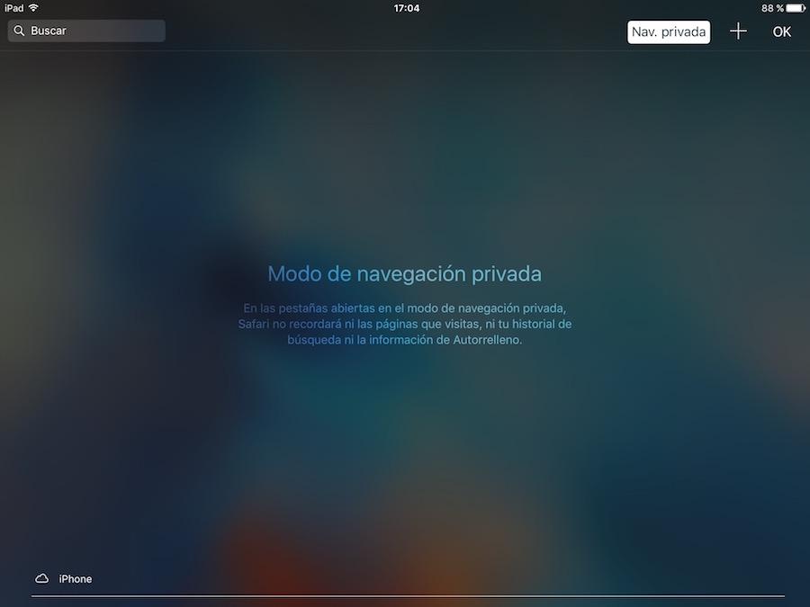Navegacion Privada - Safari