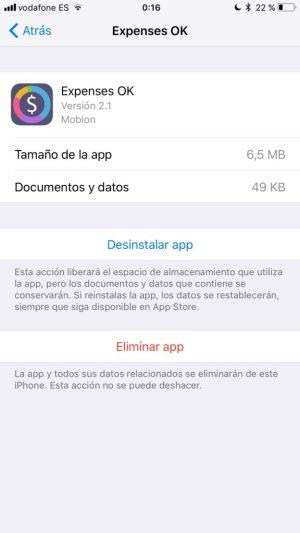 Opciones iOS 11