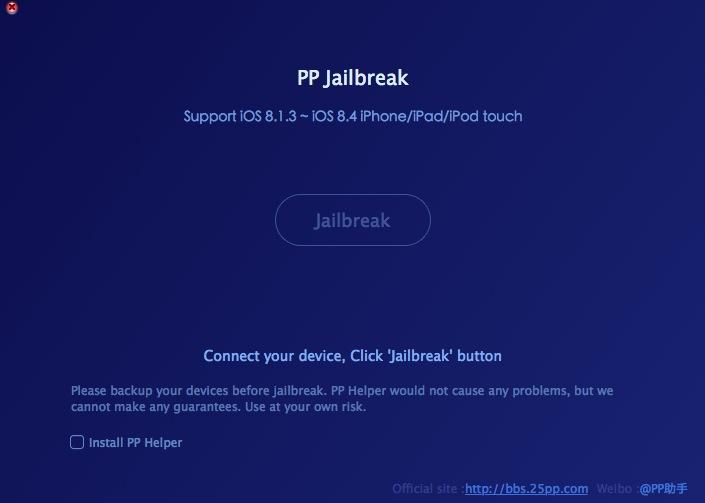 PP jailbreak para iOS 8.4 en Mac