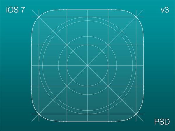 Icono dimensiones iOS 7
