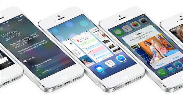 iOS 7 interfaz