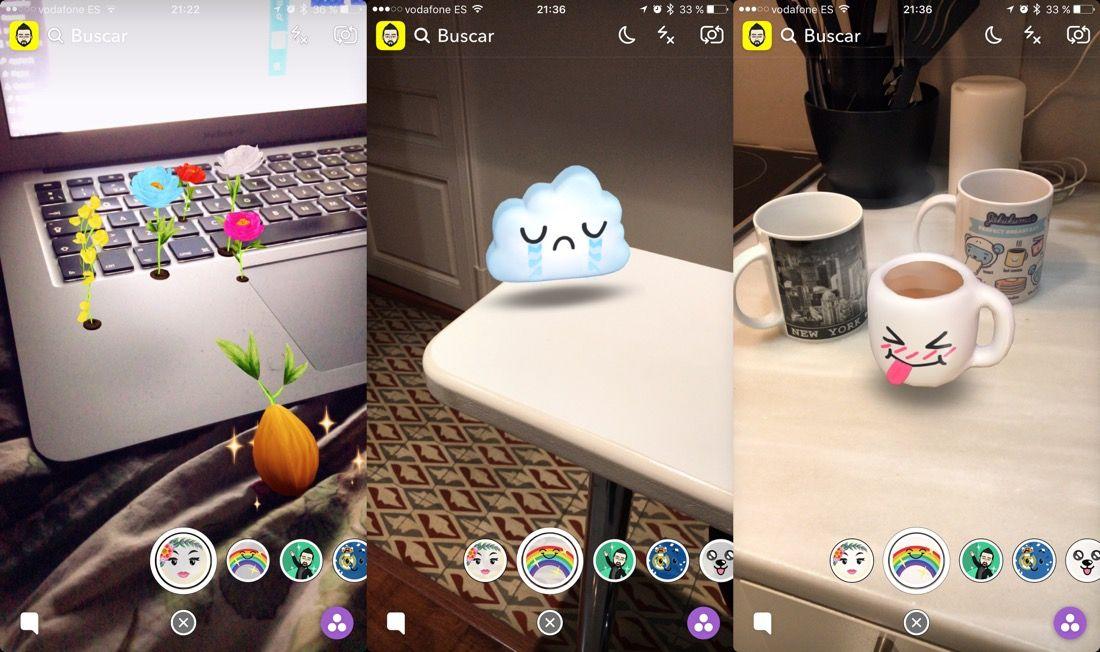 Snapchat - Filtros Lentes 3D