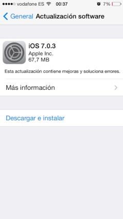 iOS 7.0.3 1