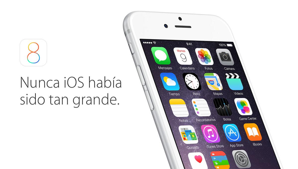 iOS 8 ya esta aqui
