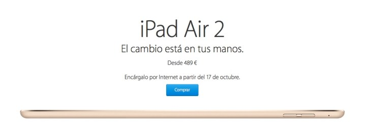 iPad Air 2 Comprar