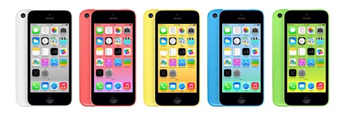 iPhone 5C colores