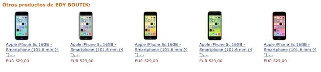 iPhone 5c  amazon descuento