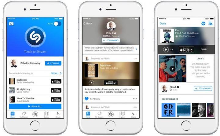 shazam iOS 9 spotlight