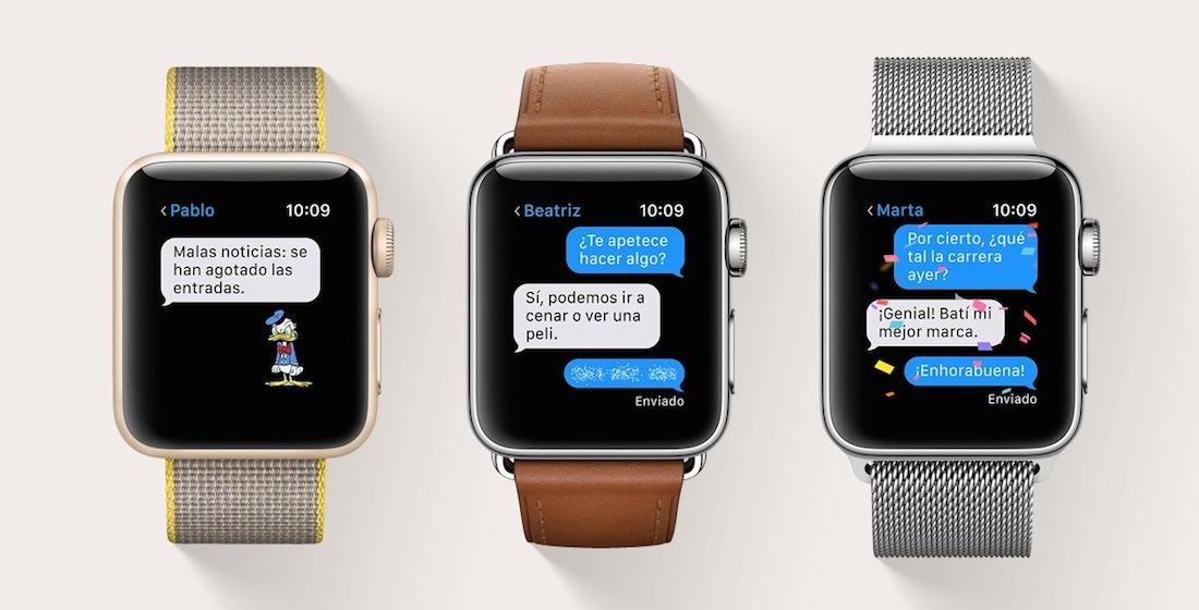 watch OS 3 Mensajes