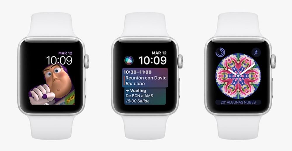 Apple Watch Series 3 Esferas