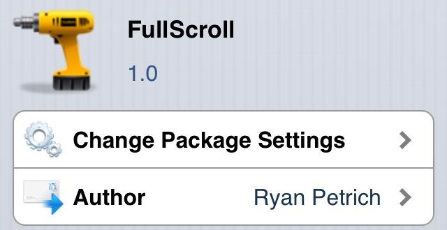 Visualiza y navega por cualquier aplicación a pantalla completa con FullScroll (Cydia)