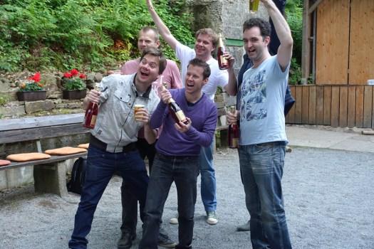 Die Sieger: holländische Gastmannschaft