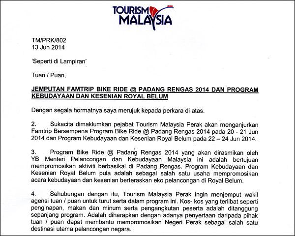 jemputan-famtrip-tourism-malaysia-perak