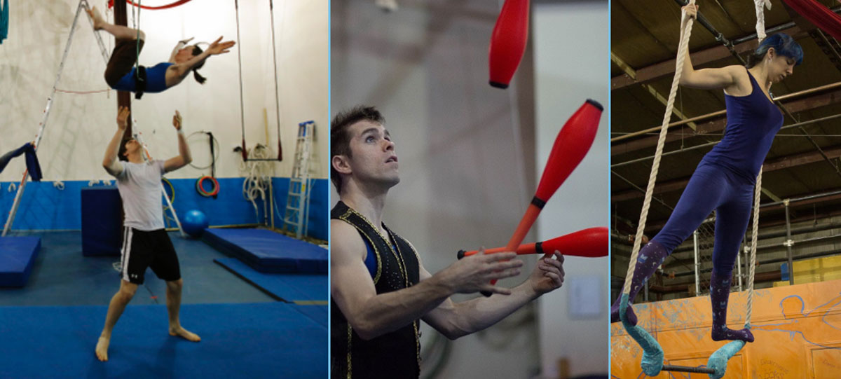 adults training at esh circus arts