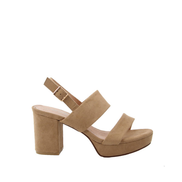 Πέδιλα beige suede fifth avenue