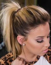 easy ponytail styles short