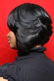layered bob hairstyles black