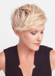 cute short hairstyles thick