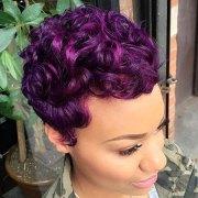 short purple hairstyles