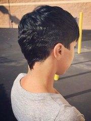 super short haircuts black