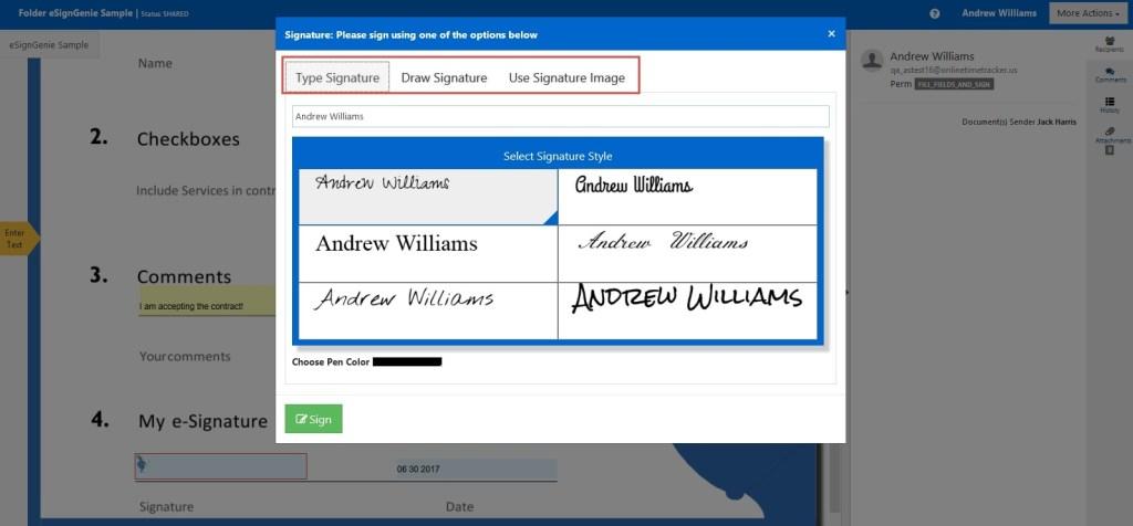 Digital Document Signing or Digital Signature Options
