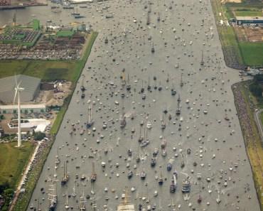 El desfile de barcos de Amsterdam