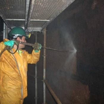 Limpieza industrial, interior tanques