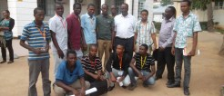 Pose Picture of Second Year Student 2014 and Prof. Mruma
